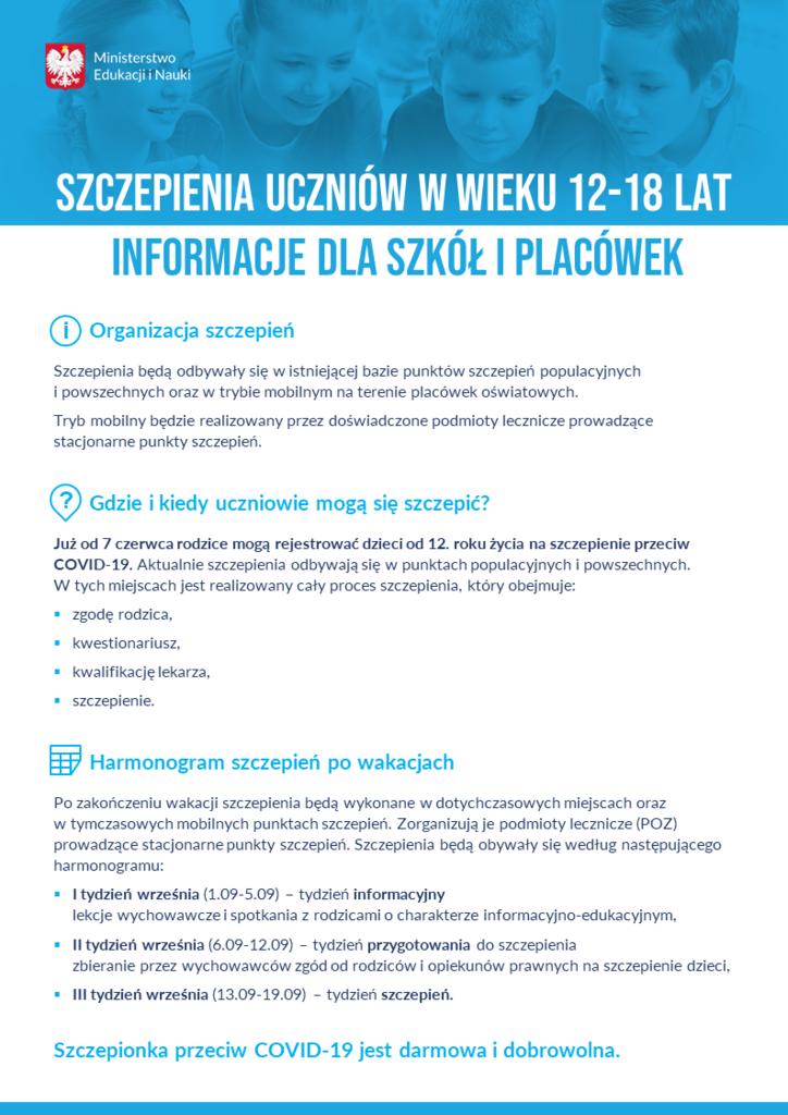 Szczepienia uczniów w wieku 12,18 lat informacje dla szkół i placówek.png