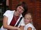 dyrektor Publicznego Gimnazjum w Prószkowie wraz z córką Pauliną