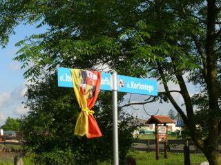 uroczystość nadania nazwy ulicy im. Josepha von Eichendorffa