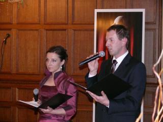 Konferansjerzy Aneta Lissy-Kluczny i Norbert Rasch