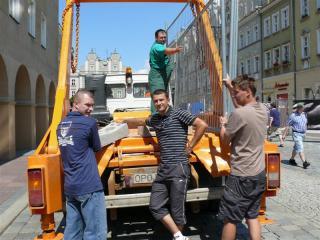 Pomocą służył również ZGKiM w Prószkowie