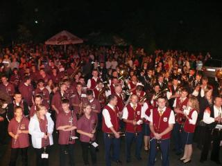 Wszystkie orkiestry razem przed odegraniem Hymnu Europejskiego