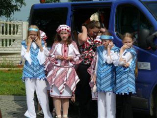 Dzieci z Doliny na Ukrainie przed występem