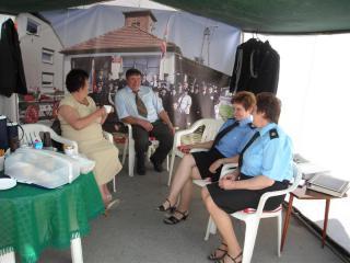 Burmistrz Róża Malik odwiedziła punkt informacyjny naszych OSP