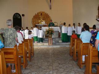 Msza św. w kościele św. Franciszka w Zimnicach Małych 1
