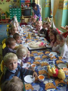 Urodziny Kubusia Puchatka w przedszkolu w Boguszycach