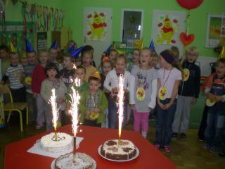 Urodziny Kubusia Puchatka w przedszkolu w Prószkowie